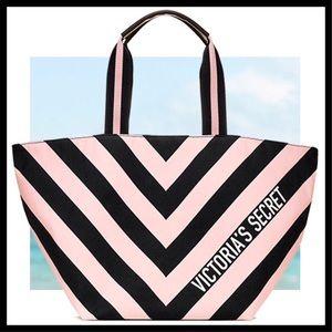 NEW! Victoria's Secret Big Striped Tote